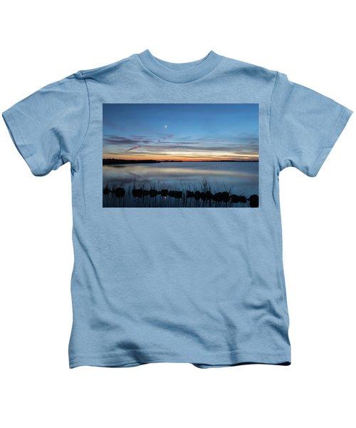 Sunset Over Back Bay Kids T-Shirt