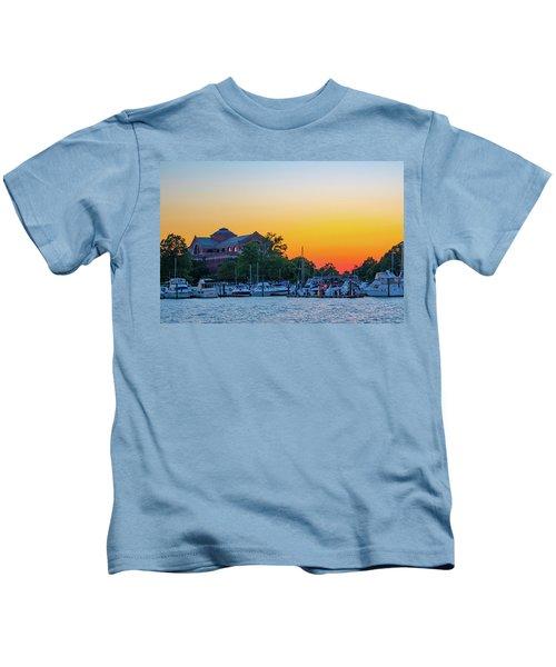 Sunset Over The National War College  Kids T-Shirt