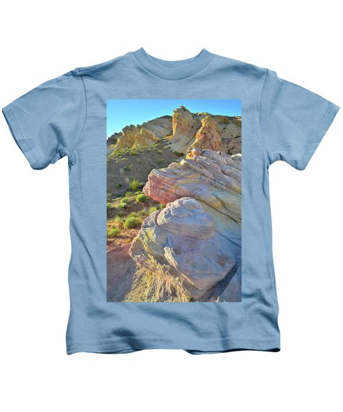 Sunset Pastels In Valley Of Fire Kids T-Shirt