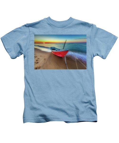 Sunset Skiff Kids T-Shirt