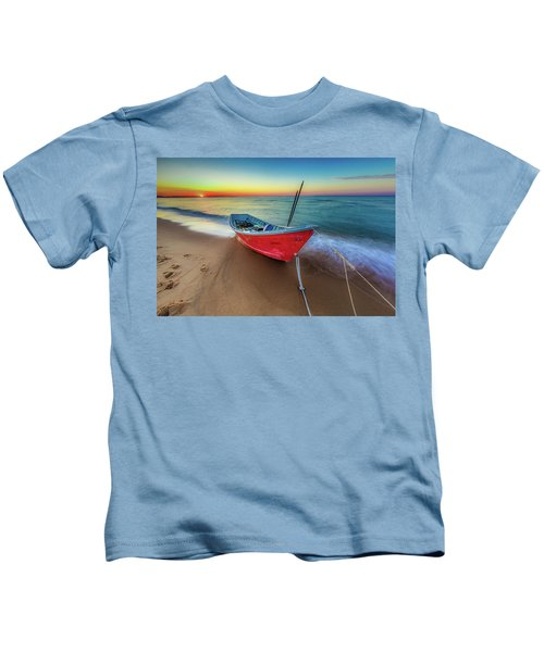 Sunset Skiff Kids T-Shirt