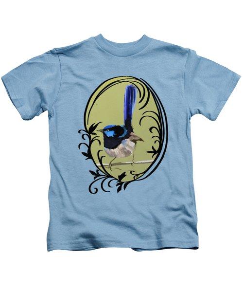 Superb Blue Wren Australian Bird Kids T-Shirt