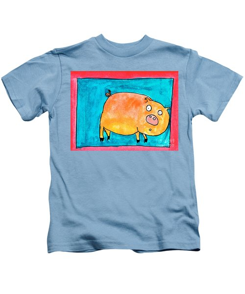 Surprised Pig Kids T-Shirt