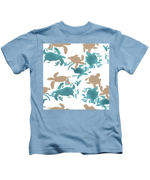 Swimming Turtles Kids T-Shirt