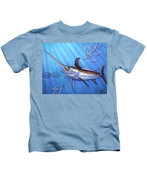 Swordfish In Freedom Kids T-Shirt
