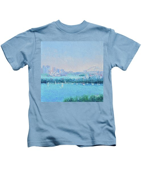 Sydney Harbour And The Opera House Kids T-Shirt by Jan Matson