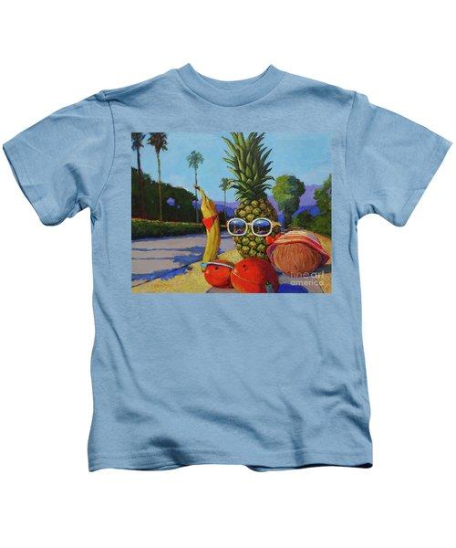 Take A Daily Walk Kids T-Shirt