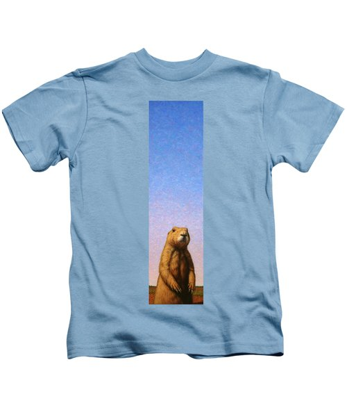 Tall Prairie Dog Kids T-Shirt by James W Johnson