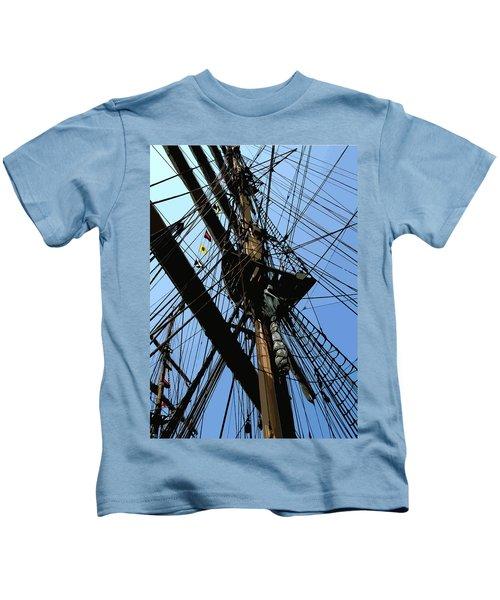 Tall Ship Design By John Foster Dyess Kids T-Shirt