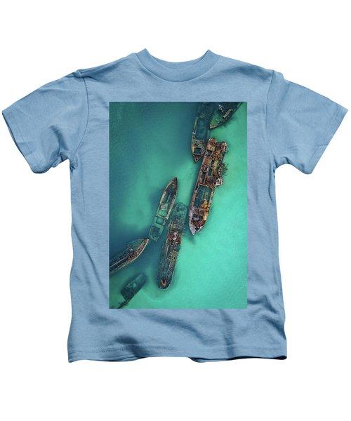 Tangalooma Wrecks Kids T-Shirt