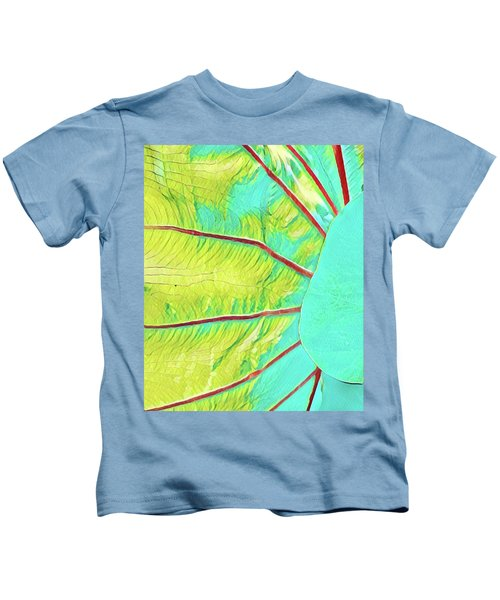 Taro Leaf In Turquoise - The Other Side Kids T-Shirt