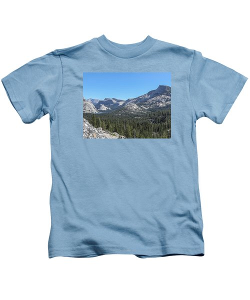 Tenaya Lake And Surrounding Mountains Yosemite National Park Kids T-Shirt