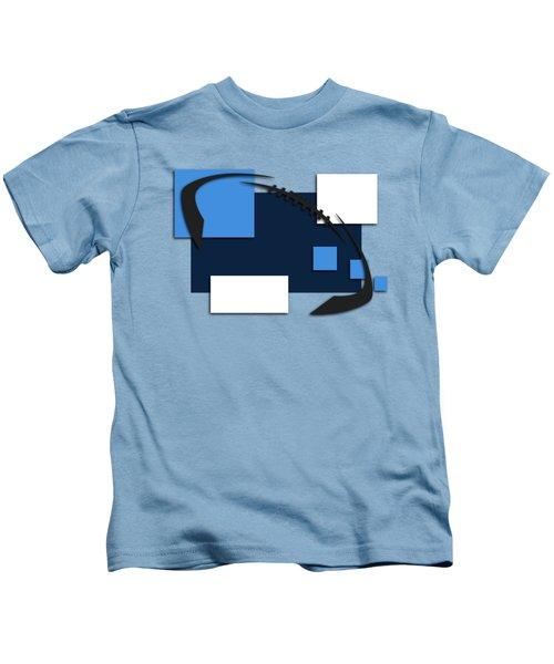 Tennessee Titans Abstract Shirt Kids T-Shirt by Joe Hamilton