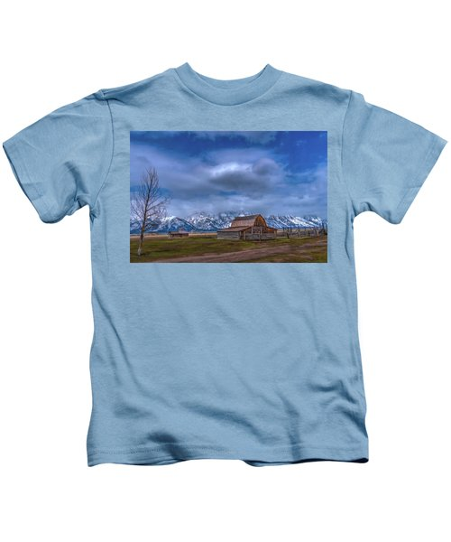 Teton National Park Mormon Row Kids T-Shirt