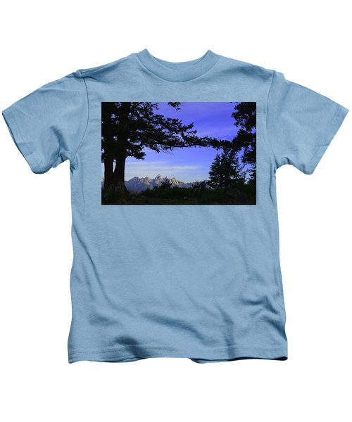 Tetons From The Wedding Trees Kids T-Shirt