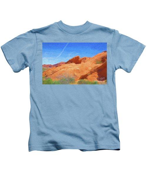 Texture Paint Art Valley Of Fire  Kids T-Shirt