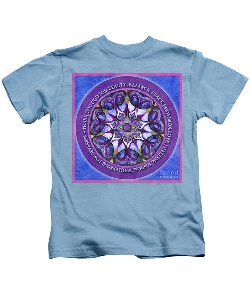 Thank You God Mandala Prayer Kids T-Shirt