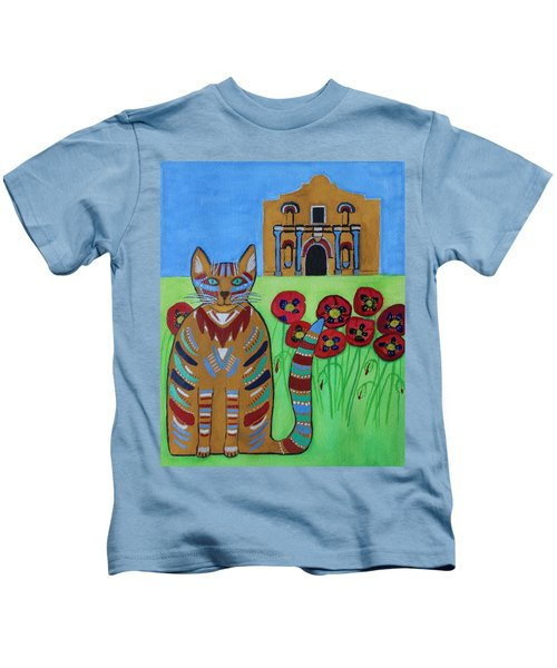 the Alamo Cat Kids T-Shirt