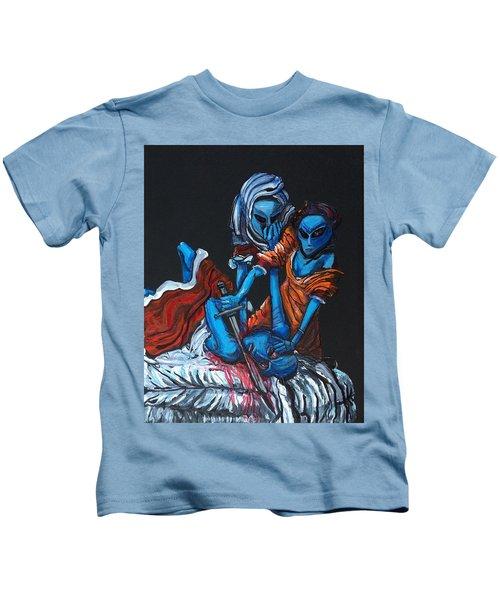 The Alien Judith Beheading The Alien Holofernes Kids T-Shirt