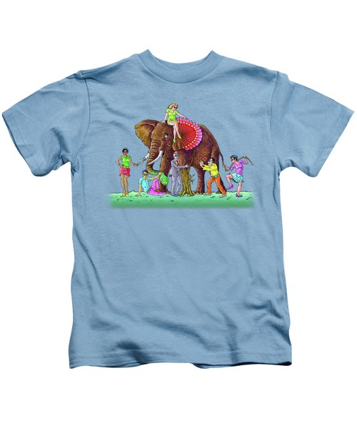 The Blind And The Elephant Kids T-Shirt