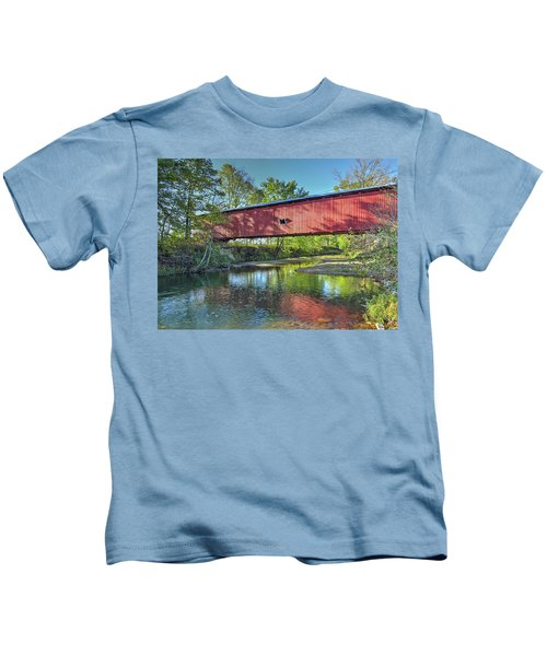 The Crooks Covered Bridge - Sideview Kids T-Shirt
