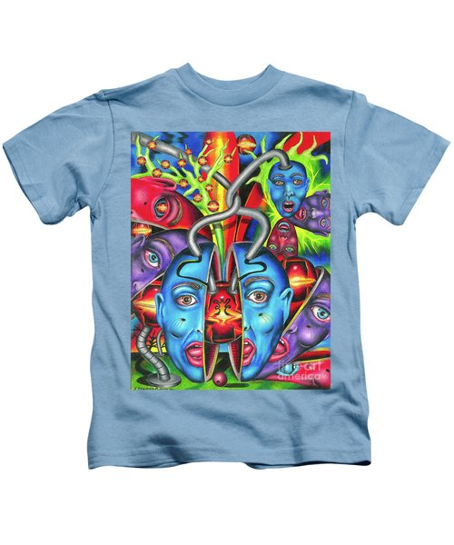 The Esoteric Force Of Molecular Mentality Kids T-Shirt
