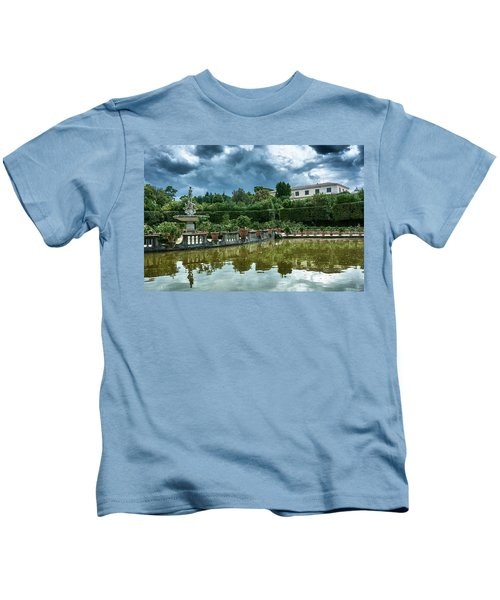 The Fountain Of The Ocean At The Boboli Gardens Kids T-Shirt