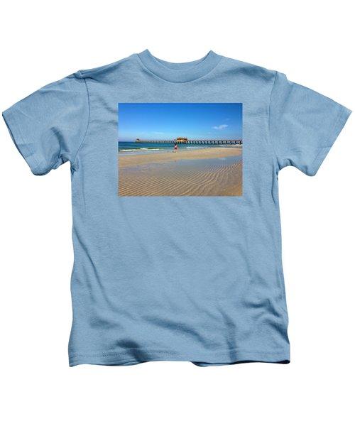 The Naples Pier At Low Tide Kids T-Shirt