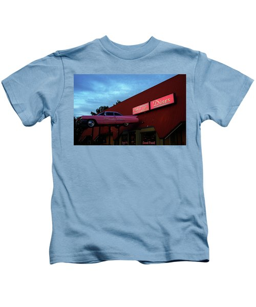 The Pink Cadillac Diner Kids T-Shirt