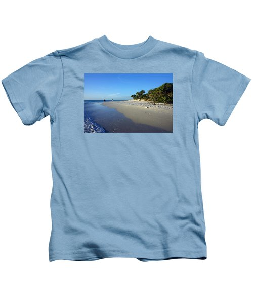 The South End Of Barefoot Beach In Naples, Fl Kids T-Shirt