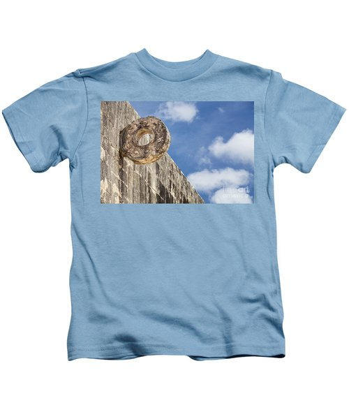The Stone Ring At The Great Mayan Ball Court Of Chichen Itza Kids T-Shirt