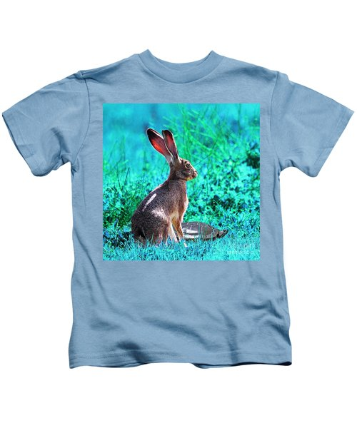 The Tortoise And The Hare . Cyan Square Kids T-Shirt