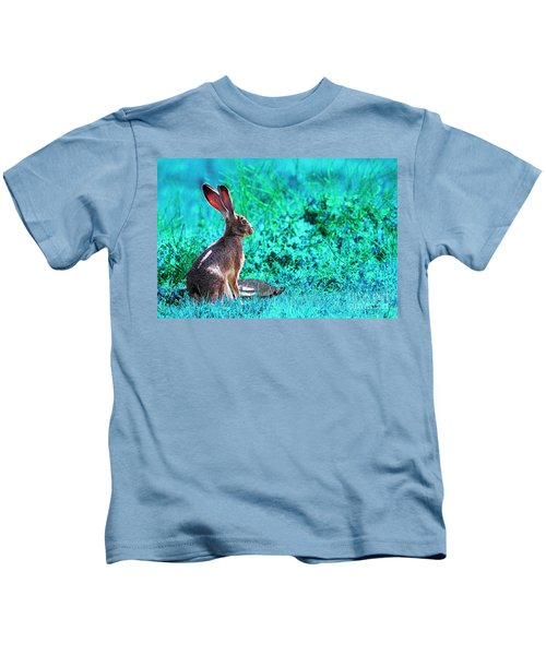 The Tortoise And The Hare . Cyan Kids T-Shirt
