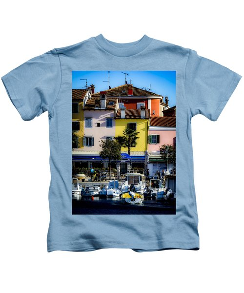 The Watercolors In Split Kids T-Shirt