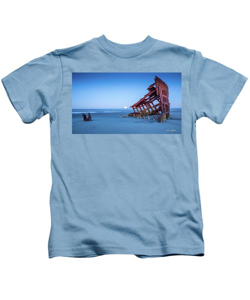The Wreck Of The Peter Iredale Kids T-Shirt