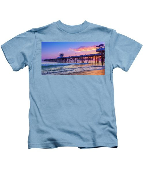 There Will Be Another One - San Clemente Pier Sunset Kids T-Shirt
