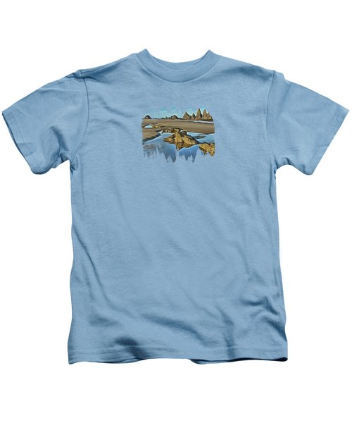 Tides Out At Seal Rock Beach Kids T-Shirt