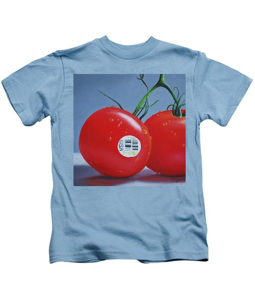 Tomatoes With Sticker Kids T-Shirt