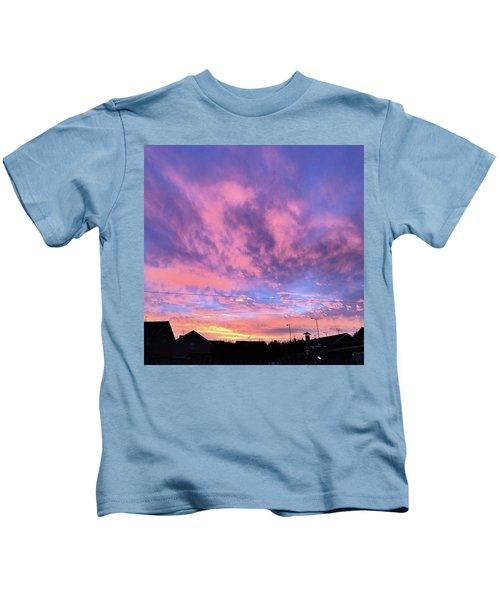 Tonight's Sunset Over Tesco :) #view Kids T-Shirt