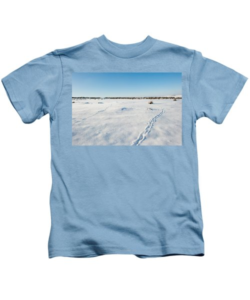 Tracks In The Snow Kids T-Shirt