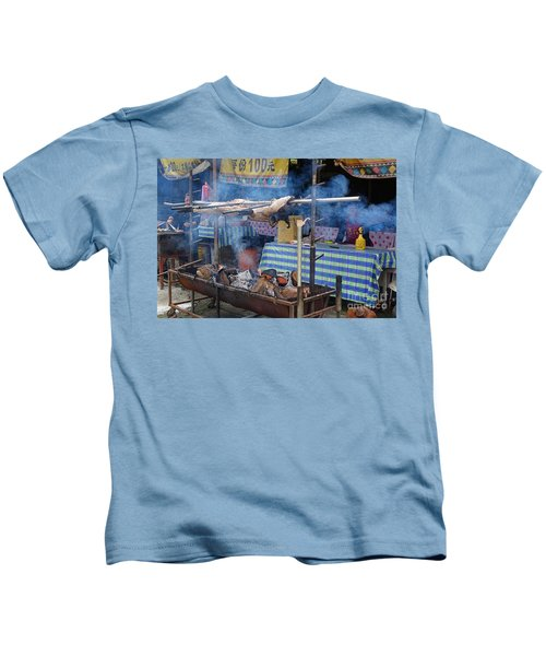 Traditional Market In Taiwan Native Village Kids T-Shirt
