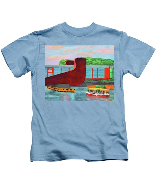 Train Over The New River Kids T-Shirt