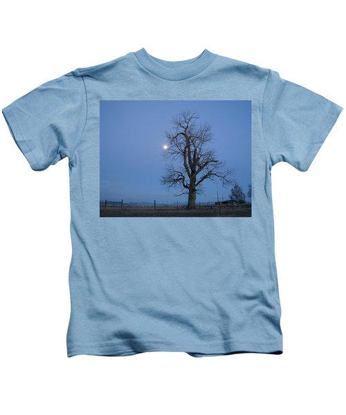 Tree And Moon Kids T-Shirt