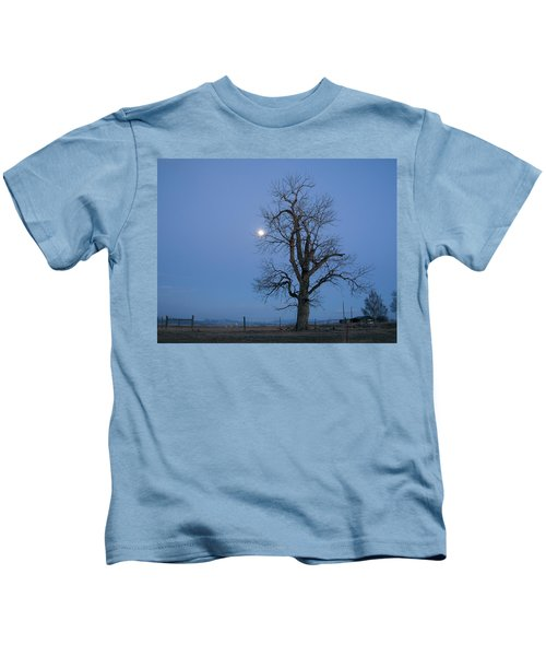 Tree And Moon Kids T-Shirt