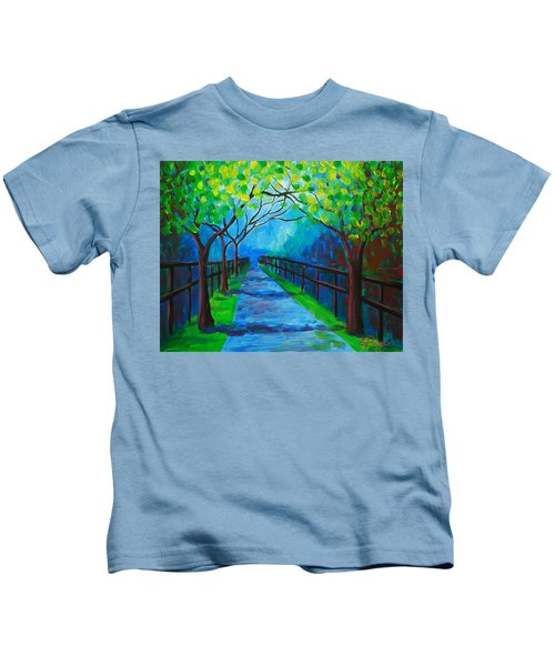 Tree Lined Fence Kids T-Shirt