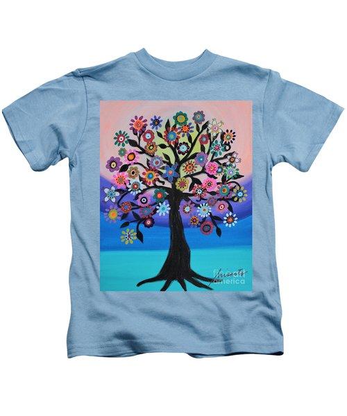 Blooming Tree Of Life Kids T-Shirt