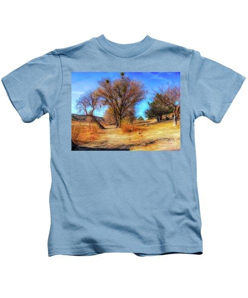 Trees Along Elizabeth Lake Kids T-Shirt