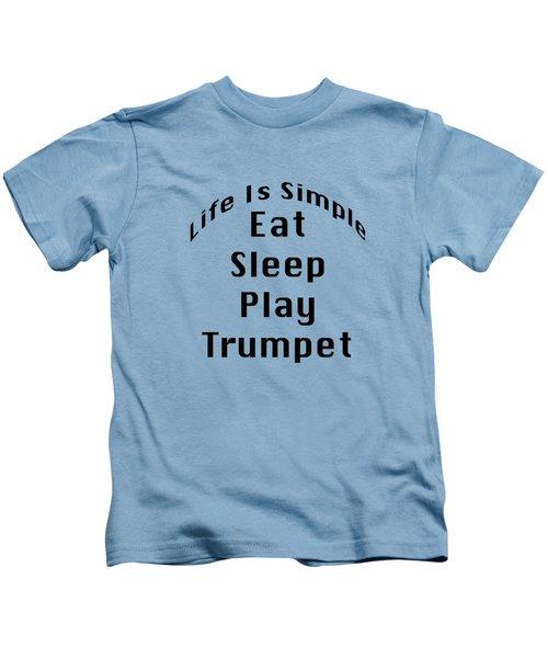 Trumpet Eat Sleep Play Music 5504.02 Kids T-Shirt