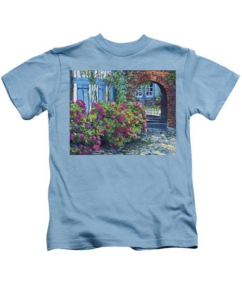 Tudor Hydrangea Garden Kids T-Shirt