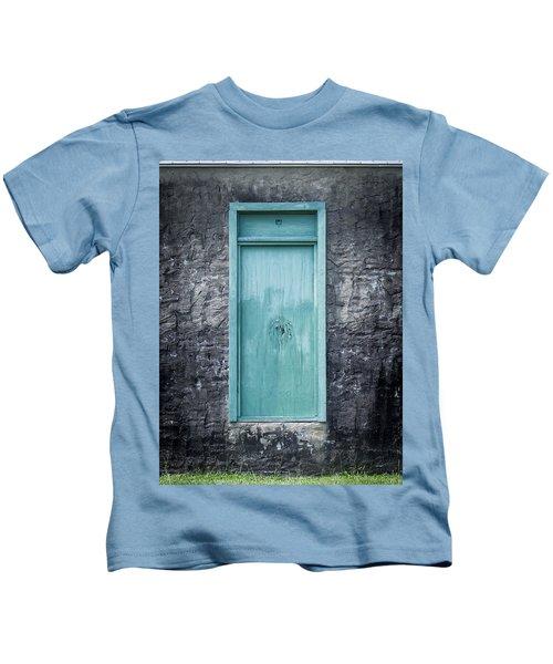 Turquoise Door Kids T-Shirt